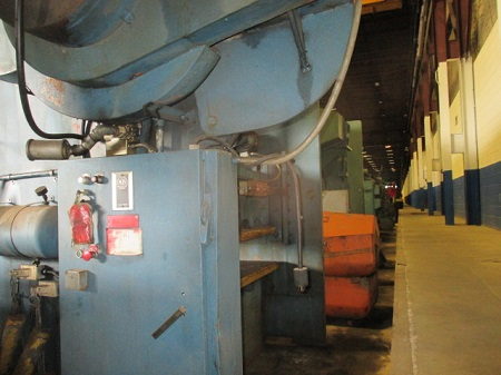 150 TON DREIS & KRUMP (CHICAGO) #SS150-42-96 STRAIGHT SIDE DOUBLE CRANK PRESS
