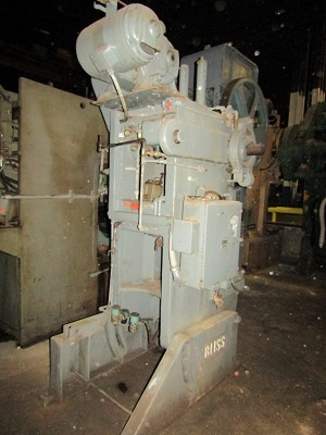 60 TON BLISS MODEL #C-60 OPEN BACK INCLINABLE SINGLE CRANK PRESS