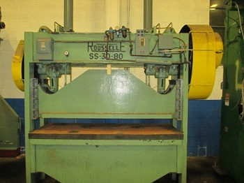 80 TON ROUSSELLE MODEL #8SS-30-80 STRAIGHT SIDE DOUBLE CRANK PRESS
