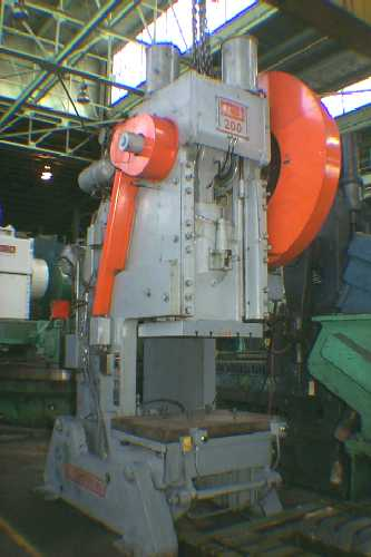 200 TON CLEARING 200 TON OPEN BACK INCLINABLE SINGLE CRANK PRESS