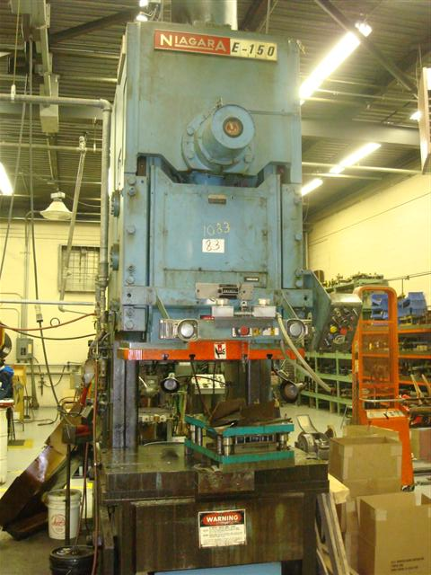 150 TON NIAGARA #E, RACK ECCENTRIC, OBI PRESS, 8 STR.