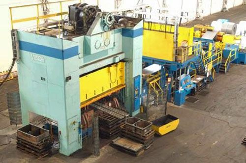 500 TON, VERSON PRESS LINE, BED SIZE 108 x 186