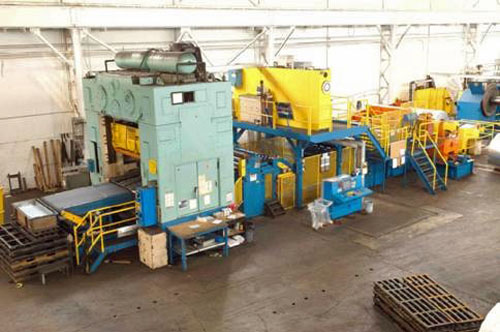 400 TON WARCO PRESS LINE, BED SIZE 72 x 96