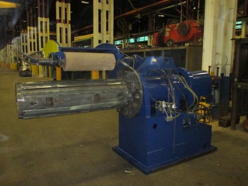 50 x 30,000 LBS (EST)PAXSON MANDREL UNCOILER W/ HOLD DOWN ROLL