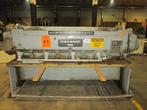 10 GA x 8' CINCINNATI MDL# 1008 MECHANICAL SQUARING SHEAR