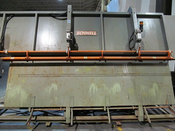 SCHNELL MODEL BW-4.5T=1000 DISCHARGE TABLE
