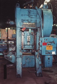 100 Ton WARCO Mdl# SC1-100-20-20H STRAIGHT SIDE SINGLE CRANK PRESS