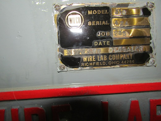 WIRE LAB Mdl# 310 THREE SHEAVE MECHANICAL DESCALER W/ AIR JET CLEANER