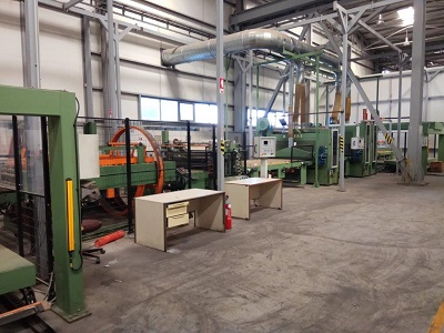 1600mm x 3mm IMEAS SHEET TO SHEET POLISHING LINE, Year 2007