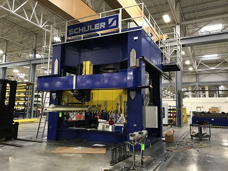 SCHULER 632 TON MODEL# BH-630-3.8 x 2.3 HYDRAULIC STAMPING PRESS