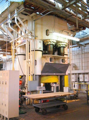 LOEWY 6500-TON CAPACITY HYDRAULIC FORGING PRESS