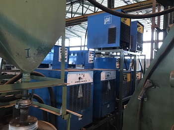 SPIRAL WELDED TUBE FACTORY 3000 X 20MM X 35 TON