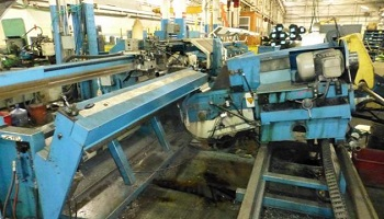 102mm Bewo Re-Cut Machine with Brush De-Burr and Wash Unit Year 2001