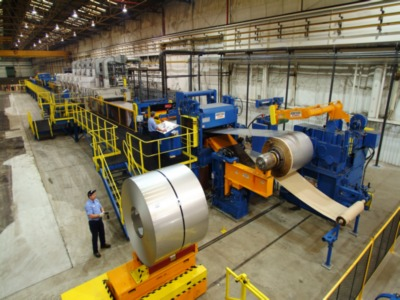 HERR VOSS / HILL ACME STAINLESS STEEL 62 COIL TO COIL WET GRINDING AND