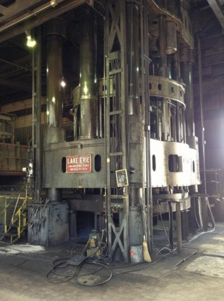4000 TON LAKE ERIE DOUBLE ACTION HYDRAULIC PRESS