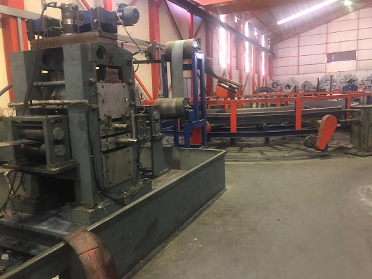 5.5 (139mm) x 5mm (.200 ) Ocevi Pipe Mill Line New in 1990 (Upgraded in 2018)