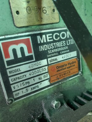 MECON, No. 40 MDC PAYOFF REEL
