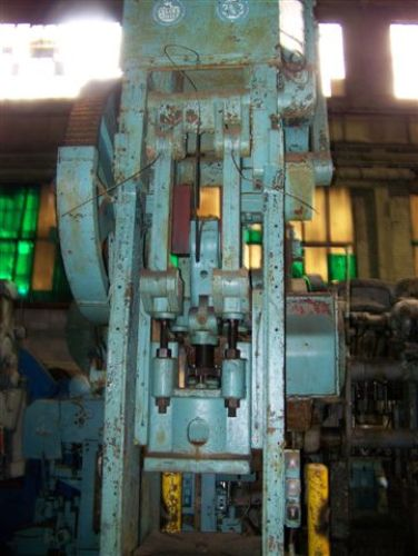 145/98 TON BLISS MODEL #3-3/4B STRAIGHT SIDE SINGLE CRANK TOGGLE DRAWING PRESS